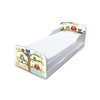 PriceRightHome Ugler Toddler Seng med underbed opbevaring og fibre