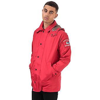 Men's Henri Lloyd Summer Consort Hooded Polytaslon Jacket in Red