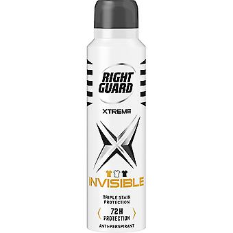 Right Guard 6 X Right Guard Xtreme Deodorant For Men - Invisible