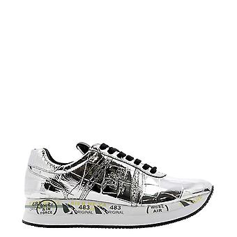Premiata Conny4818 Dames's Silver Leather Sneakers
