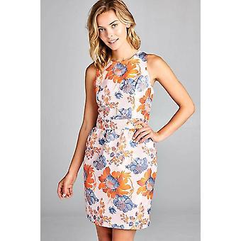Mehrfarbiges bedrucktes Kleid