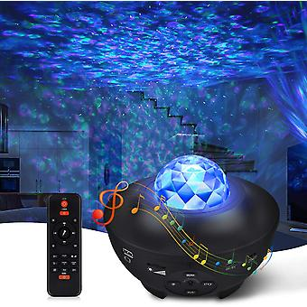 Led Starry Galaxy Night Light Projector With Speaker 10 Colors 21 Modes