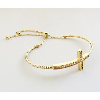 18 carat gold bracelet with cross