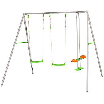 "TRIGANO ""Axion"" Swing Set ""Louise"" 259 x 213 x 220 cm Steel J-11468P8"