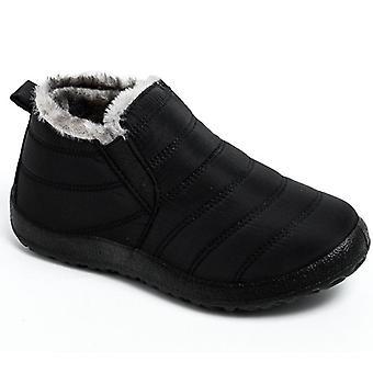 Zimní plus teplá kožešina sněhové boty plyšové uvnitř nepromokavé boty