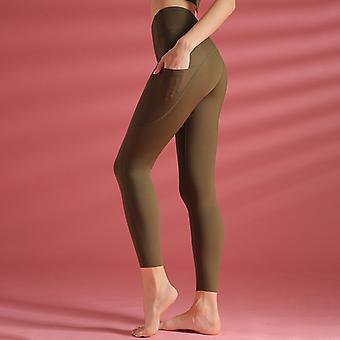 Women's nylon deportes pantalones de yoga Q27