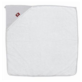 Red Castle White & Grey Hooded Towel