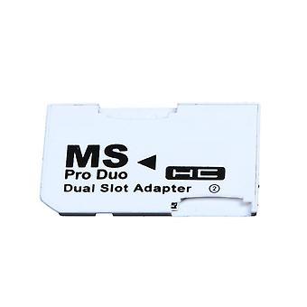 فتحة المزدوجة بطاقة الذاكرة محول 2 مايكرو SD Hc بطاقات