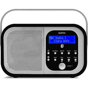DZK Retro H1 DAB+ FM DAB Digital Radio Bluetooth Portable Radio with Dual Alarm Clock &
