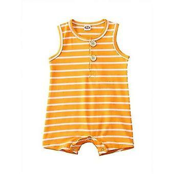 Детские полосатые одежды без рукавов Jumpsuit