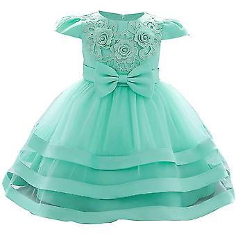 Baby Meisje Formele Doop Prinses Jurk 892-groen