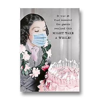Pigment Riff Raff - Woman In Mask Birthday Cake Card Rw1037a