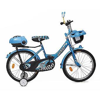 Bicicleta para niños Byox 16 pulgadas 1682 azul, ruedas de apoyo, 2 cestas, campana, ajustable