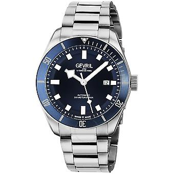 Gevril Yorkville Swiss Automatic Blue Dial Men's Diver Watch 48601