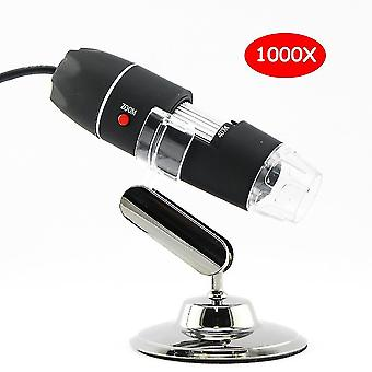 1000X digitální usb mikroskop 8 led světel elektronická mikroskopická kamera mikroskopická lupa + kalibrační pravítko 40x-1000x ruční