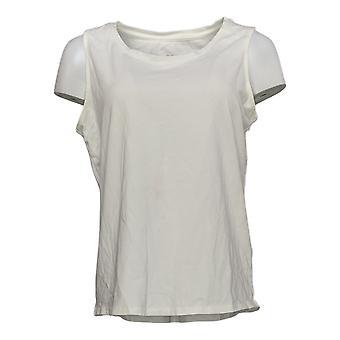 G.I.L.I. Got It Love It Women's Top Curved Hem Knit White A354269