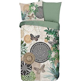 bed linen Skylar 200 x 200 cm cotton satin green