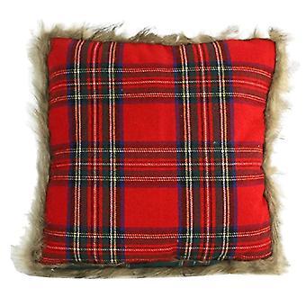 pillow Macbain 45 cm fabric red