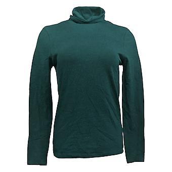 Adrienne Vittadini Women's Top Long Sleeve Turtleneck Green