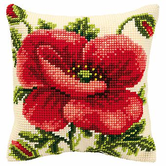 Vervaco Cross Stitch Kit: Coussin: Poppy oriental