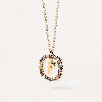 Halsband Kvinna P D Paola CO01-275-U - Plaqu guld Dor