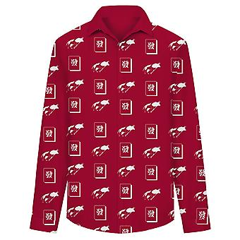 Allthemen Men's Chinese Lucky Meaning Lucky Red Bull Totem Casual Shirt