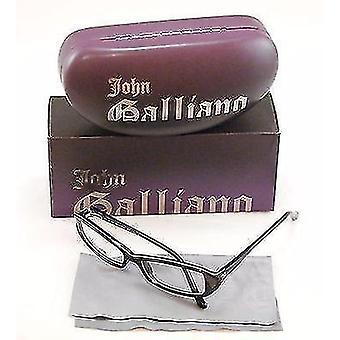 John Galliano Eyeglasses Frame JG5004 005 Plastic Black White Italy 54-15-130