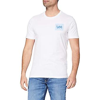 Lee Summer Logo T-Shirt, White, XXL Men's