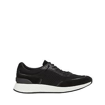 Z Zegna Mens Techmerino Piuma Black Sneakers