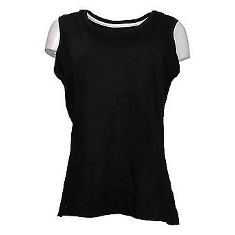 Isaac Mizrahi Live! Women's Top Reg Essentials Scoop Neck Black A374863