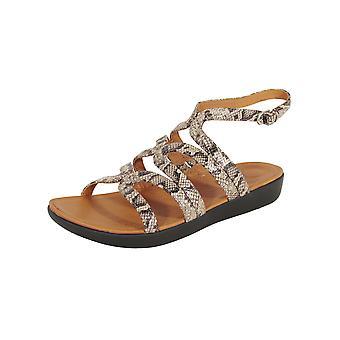Fitflop Kvinders Strata Gladiator Snake Effect Læder Sandal