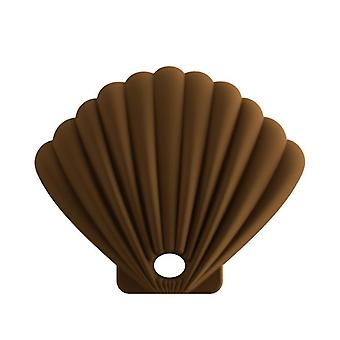 3Pcs brown shell shape silicone mask storage box, dustproof and waterproof for repeated use az17424
