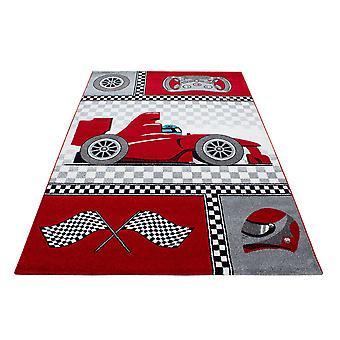 Alfombra infantil ShortFlor Racing Car Design Nursery Youth Room
