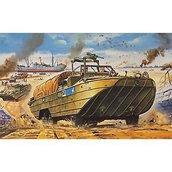 DUKW 1:76 Vintage Klassinen Sotilaallinen Ilma Korjaus MalliSarja