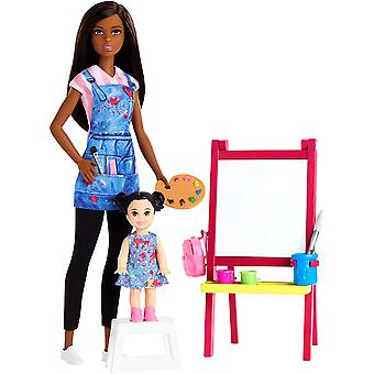 Barbie Du kan vara vad som helst - Docka konstlärare med kid Doll Playset