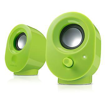 SPEEDLINK Snappy USB Stereo Högtalare, Grön
