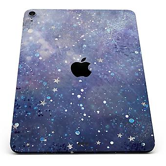 Abstract Blue Grungy Stars - Full Body Skin Decal For The Apple Ipad