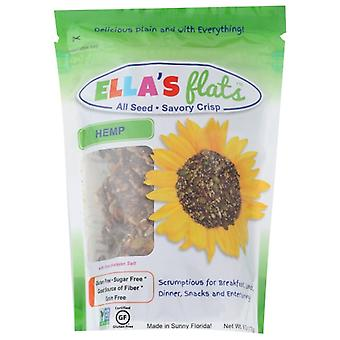 Ellas Flats קרקרים קנבוס, מארז של 6 X 6.5 שקיות
