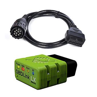 LX Bluetooth OBD2 BIMMER Кодирование инструмент для автомобиля BMW и мотоцикл MOTOSCAN Плюс 10pin Motocycle велосипед кабель