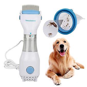 Electric Lice Catcher Pet Hair Cleaner Multi-Function Physical Lice Egg Comb Flea Pet(EU Plug)