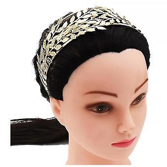 Goddess Leaf Headband Greek Goddess Bridal Hairband(Silver)