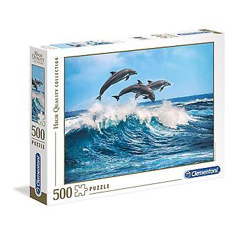 Clementoni Dolphins Puzzle de haute qualité (500 pièces)