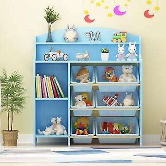 Muebles estantería de madera estantería armario de almacenamiento de juguetes