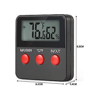 مقياس الرطوبة الرقمي Lcd مقياس الحرارة مقياس الحرارة درجة الحرارة الرطوبة مراقب اختبار
