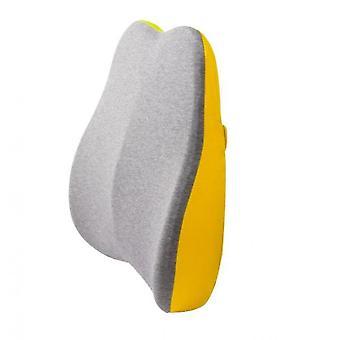 Memory Foam Backrest Office Seat Backrest Pillow(Yellow)