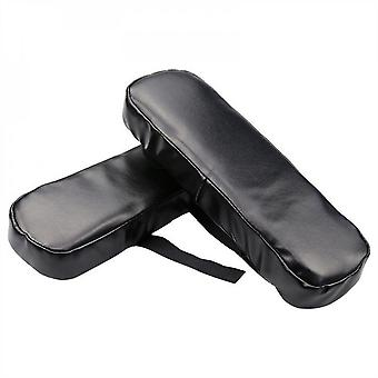 Mimigo 1 Pair Of Memory Foam Armrest Pads Soft Office Chair Elbow Supporting Pu Leather Cushion Black