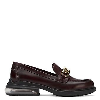 Ash REX CHAIN Loafers Burgundy Red Leather