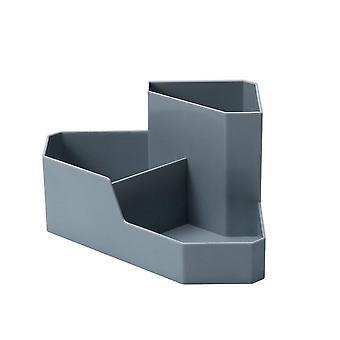 תיבת אחסון קוסמטיקה לפצות סדרן תיבת שולחן עבודה פינתית ארגון משק בית פלסטיק