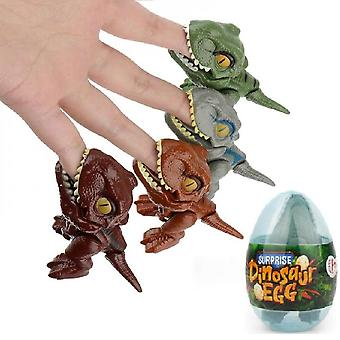 4pcs Finger Dinosaur Anime Action Figures Toys With Dino Eggs