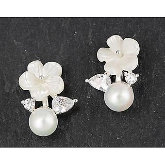 Boucles d'oreilles Diamante en coquille de perle